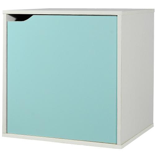 魔術方塊單門收納櫃~藍^(41^~28.4^~40.6cm^)