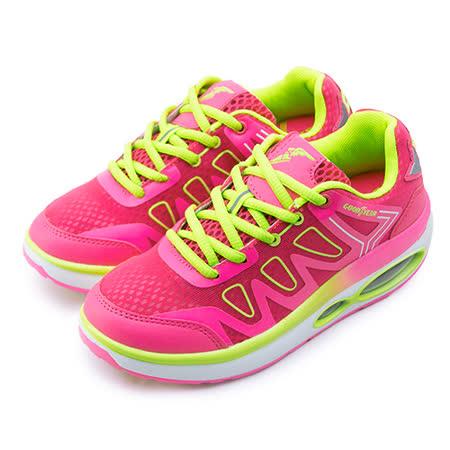 【女】GOOD YEAR 專業氣墊健走鞋 NIGHT LIGHT 系列 桃螢綠 52702