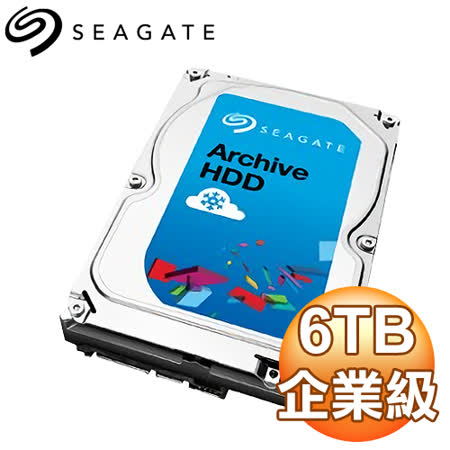 Seagate 希捷 6TB 3.5吋 5900轉 128M快取 SATA3硬碟 (ST6000AS0002)