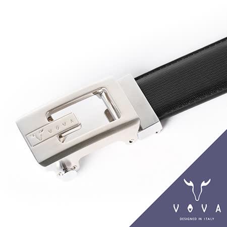VOVA 鏤空造型雙面自動扣皮帶(亮銀色) VA001-001-NK