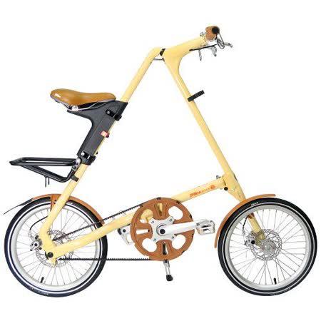 STRiDA 速立達 18吋3速EVO版折疊單車(碟剎) 奶油色