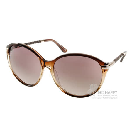 TOD'S太陽眼鏡 典雅女款大框(透棕) #TOD81 50F