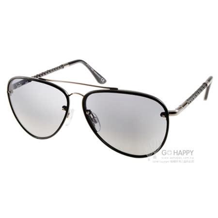 TOD'S太陽眼鏡 率性皮革飛官款(黑) #TOD130 01B