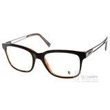 TOD'S眼鏡 潮流簡約款(黑-琥珀) #TOD5050 005
