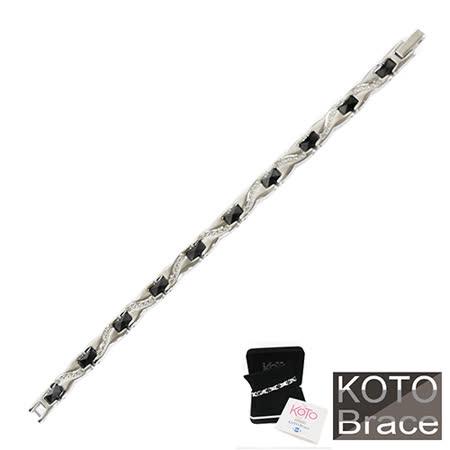 【KOTO】簡單奢華白鋼黑珠女款手鍊(SC-696)