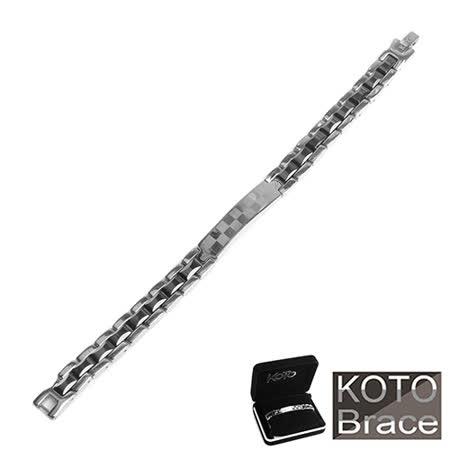 【KOTO】精密陶瓷白鋼黑珠女款手鍊(CS-999A+)
