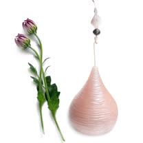 浪漫珠光粉紅香氛水滴造型蠟燭-大