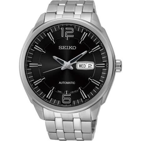 SEIKO 精工都會領袖機械錶-黑/45mm 7S26-04H0D(SNKN47J1)