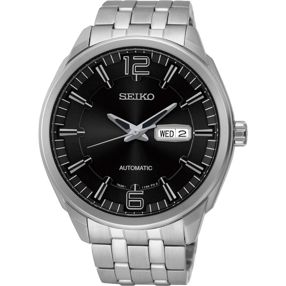 SEIKO 精工都會領袖機械錶~黑45mm 7S26~04H0D^(SNKN47J1^)