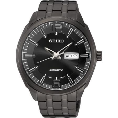 SEIKO 精工都會領袖機械錶-鍍黑/45mm 7S26-04H0SD(SNKN63J1)