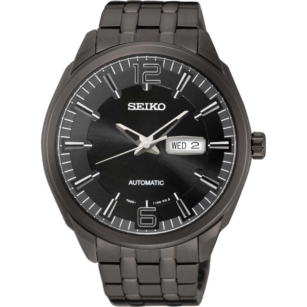 SEIKO 精工都會領袖機械錶~鍍黑45mm 7S26~04H0SD^(SNKN63J1^