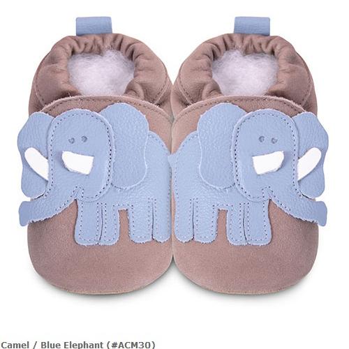 英國 shooshoos 安全無毒真皮手工鞋/學步鞋/嬰兒鞋_藍色大象(公司貨)