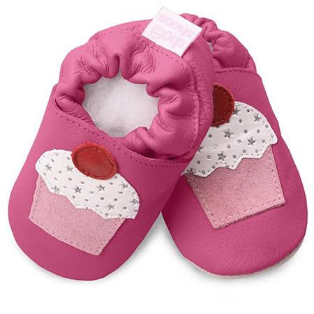 英國 shooshoos 安全無毒真皮手工鞋/學步鞋/嬰兒鞋_桃紅杯子蛋糕(公司貨)
