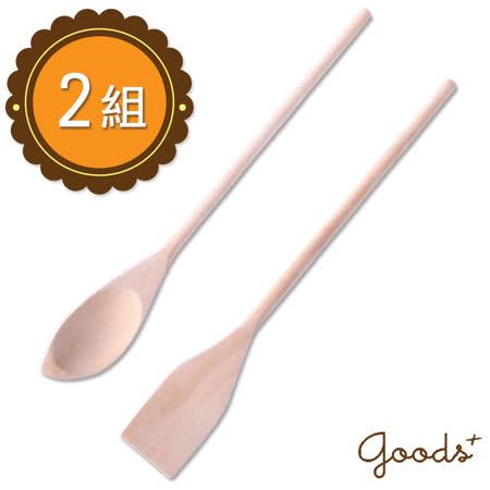 【goods+】質樸溫潤 木製調製棒/攪拌棒/料理勺(2組4件)_WO02