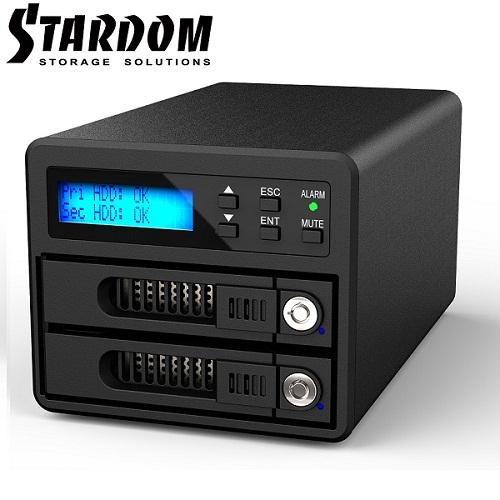 RAIDON 2.5吋3.5吋USB3.0eSATA 2bay磁碟陣列-GR3680~SB