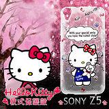 三麗鷗授權正版 Hello Kitty 凱蒂貓 Sony Xperia Z5 透明軟式保護套 手機殼 (Kitty公仔)