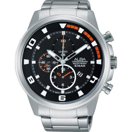 ALBA 即動宣言限量計時套錶-黑/47mm YM92-X269D(AF8U07X1)