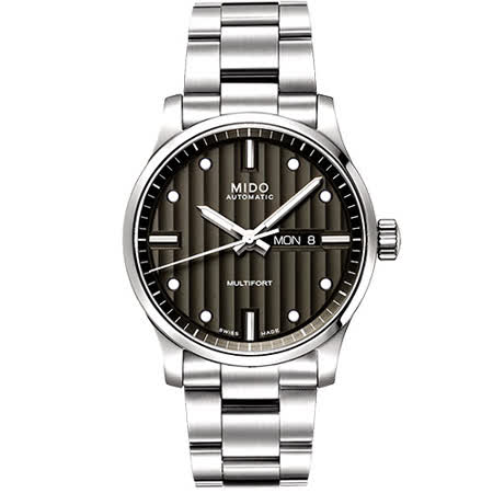 MIDO Multifort 系列經典鋼帶腕錶-黑 M0054301106100
