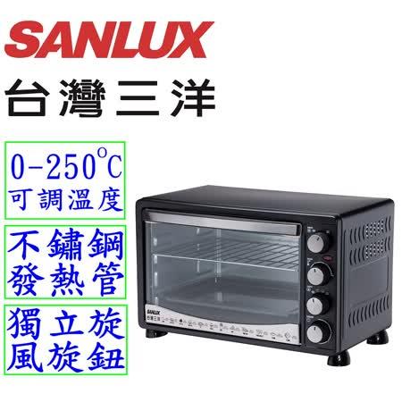 【好物分享】gohappy線上購物【台灣三洋 SANLUX】30L旋風式定時電烤箱SK-30D推薦大 遠 百 台北