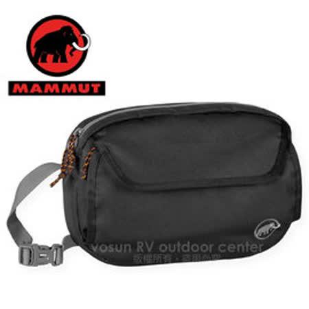 【瑞士 MAMMUT 長毛象】Add-on Chest Bag 快拆式胸前包(可當腰包/附防雨罩)_登山胸前袋.外掛登山背包.自助旅行 00090-0001 黑