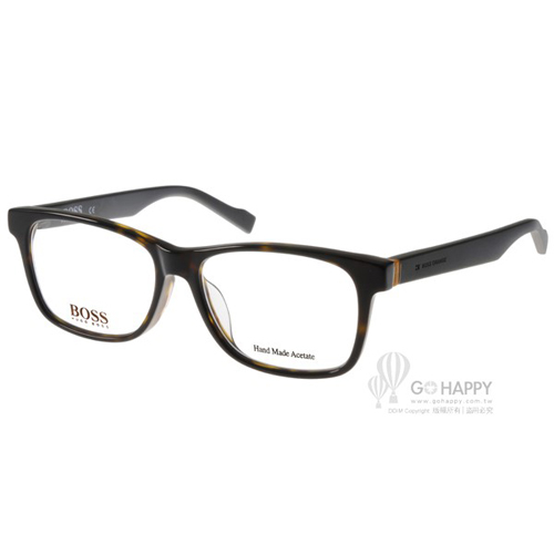 HUGO BOSS眼鏡 質感百搭款(深邃琥珀-黑) #BR0189F K8B
