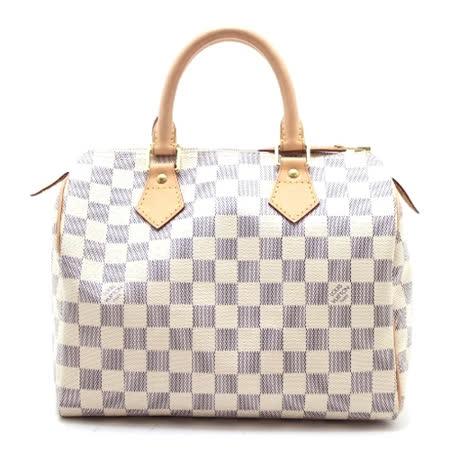 Louis Vuitton LV N41371 Speedy 25 白棋盤格紋手提包(附銷組)_預購