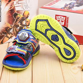 童鞋城堡-變形金剛 中大童 LED電燈涼鞋TF3290-藍