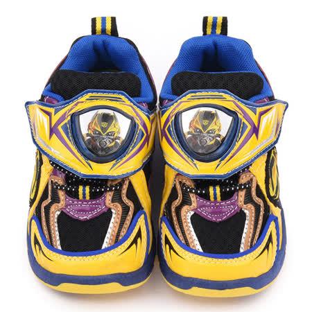 童鞋城堡-變形金剛 中大童 LED電燈透氣運動鞋TF5187-黃藍