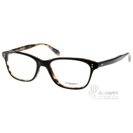 OLIVER PEOPLES眼鏡 品味時尚百搭款(黑-琥珀) #ASHTON 1309