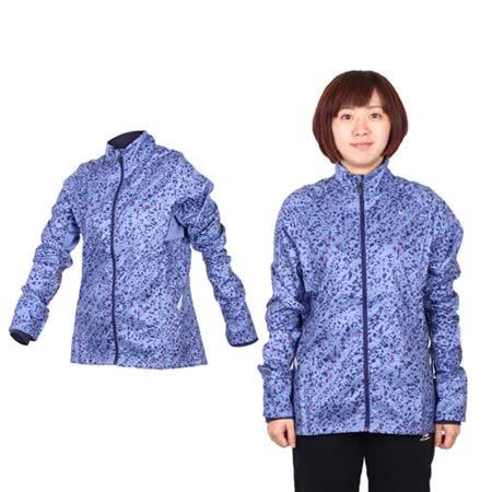 (女) PUMA 滿版印花立領風衣外套- 慢跑 路跑 防風 紫紅