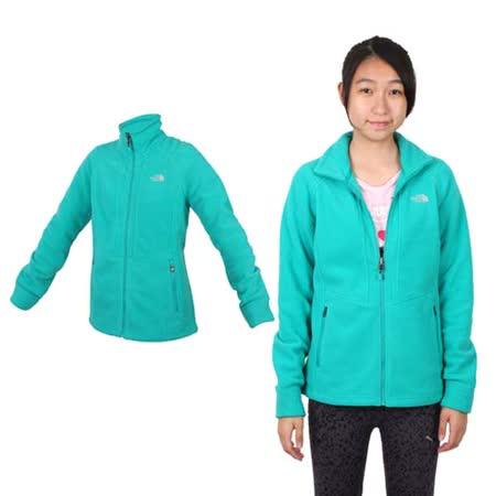(女) THE NORTH FACE 保暖刷毛外套 - 登山 露營 戶外 綠銀