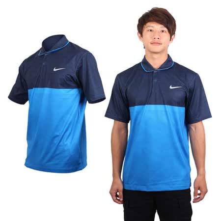 (男) NIKE GOLF 快速排汗短袖POLO針織衫 - 高爾夫 寶藍丈青