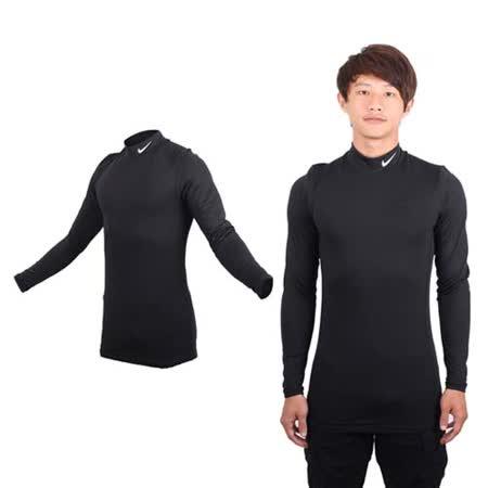 (男) NIKE GOLF 快速排汗長袖高領衫 - T恤 路跑 健身 高爾夫 黑灰