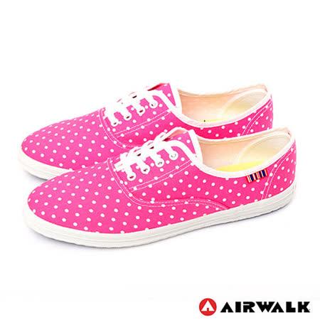 AIRWALK(女) - 無敵點點 活力滿分休閒帆布鞋 - 點點粉