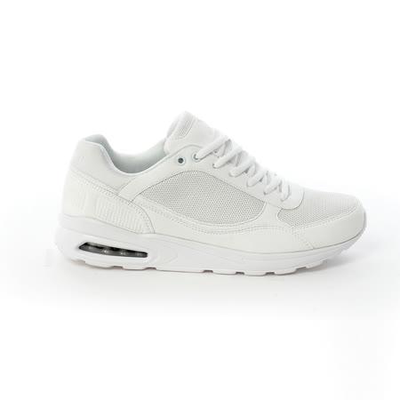 AIRWALK(男) - 舒適透氣縷空AIR休閒慢跑運動鞋 -白
