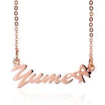 【YUME】超迷你領結英文名字項鍊