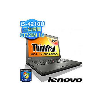 【超值福利品】Lenovo ThinkPad T440 14吋 i5-4210U 獨顯 Win7專業商務筆電(T440 20B6A06LTW)★贈原廠筆電包
