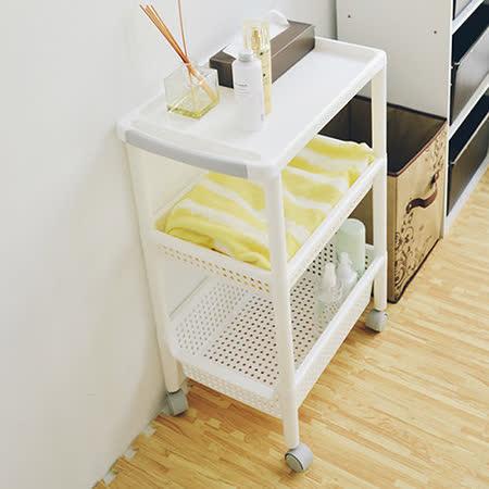 《舒適屋》日系三層移動式加寬收納櫃/置物櫃(32x48cm)
