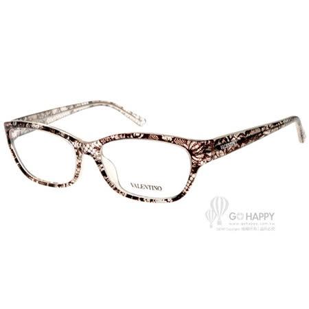 VALENTINO眼鏡 蕾絲格紋女款(格紋透白) #VA2606 C108