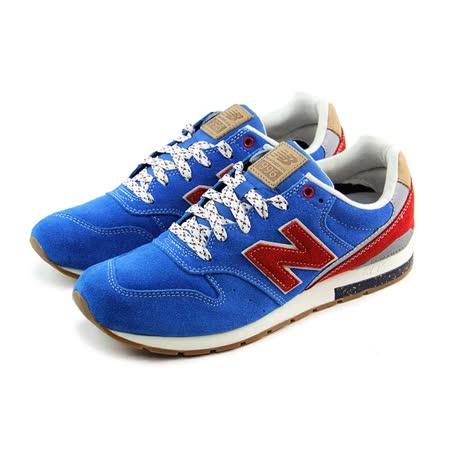 (男)NEW BALANCE 復古鞋 藍/紅-MRL996AT