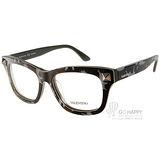 VALENTINO眼鏡 時尚粗框款(迷彩綠-黑) #VA2673 C414