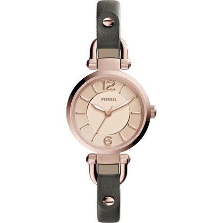 FOSSIL Georgia Artisan 仕女腕錶-玫瑰金x灰/26mm ES3862