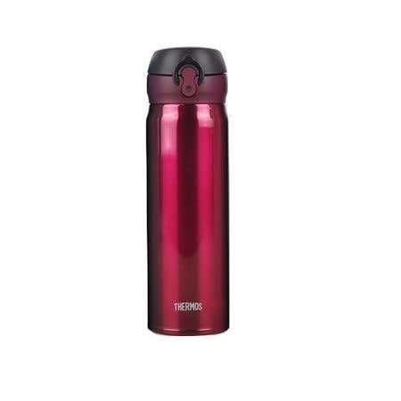THERMOS膳魔師 超輕量不鏽鋼真空保溫瓶0.5L 酒紅色(JNL-500-BGD)