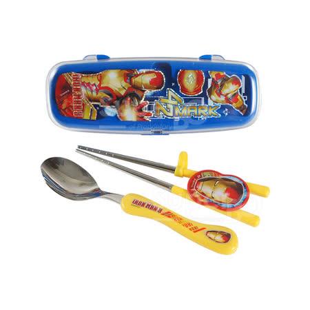 學習筷湯匙組(附盒)MARVEL鋼鐵人