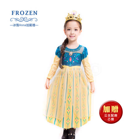 休閒小洋裝-冰雪Anna 加冕禮(薄長袖)