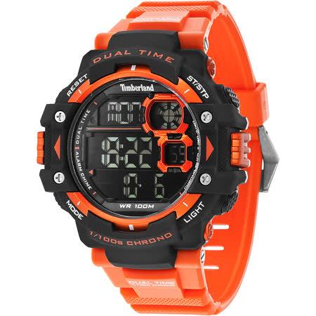 Timberland TUXBURY系列多功能數位腕錶-橘/52.5mm TBL.14260JPBO/02