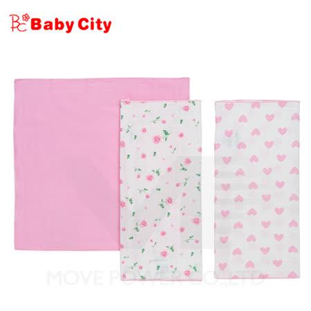 【娃娃城-Babycity】超柔紗布手帕-粉(三入)