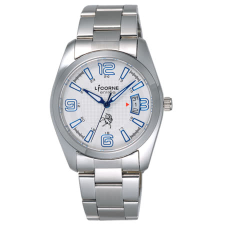 LICORNE entree  時之轉換點日期腕錶-藍