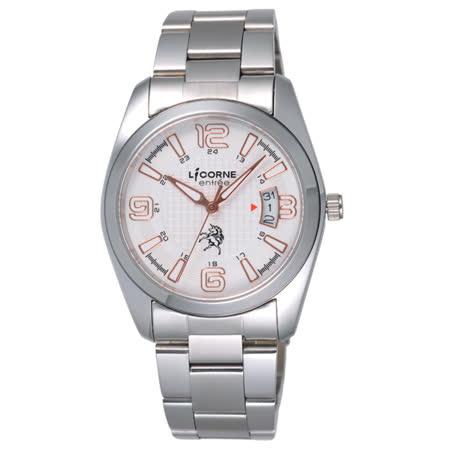 LICORNE entree  時之轉換點日期腕錶-金