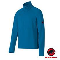 【瑞士 MAMMUT 長毛象】Aconcagua Pull 專業級 男超強抗磨快乾彈性保暖上衣(Polartec Power Stretch)中層透氣刷毛衣/ 01260-5611 藍